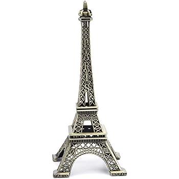 PROW 15cm Paris Eiffel Tower Iron Craft Architecture Model Desktop Home Decoration Art Gift, Bronze