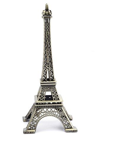 PROW 15cm Paris Eiffel Tower Iron Craft Architecture Model Desktop Home Decoration Art Gift, -