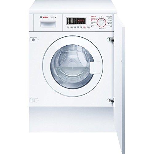 Bosch WKD28541EE Integrado Carga frontal B Blanco lavadora - Lavadora-secadora (Carga frontal, Integrado, Blanco, Izquierda, Botones, Giratorio, LED) SERIE 6