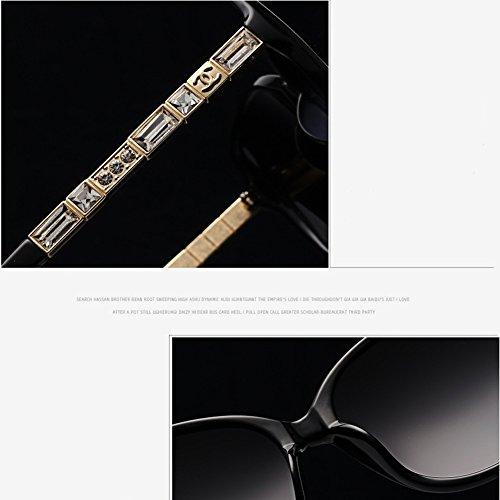espejo de de clásico 01 sol de Gafas marco gafas CJ nuevas mujer 03 de sol polarizadas de conducción gran wpq861