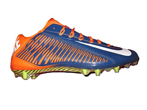 NIKE Vapor Carbon Elite TD Mens Football Cleats Navy Blue/Orange/White 14 (Nike Vapor Carbon Fly Td Cleats For Sale)