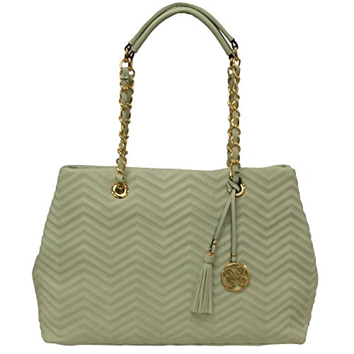 perlina-york-quilted-fashion-tote-mint-chain-purse-handbag