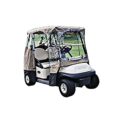 Summates Four-side Golf Car Enlosure, Color Beige, w/clear window