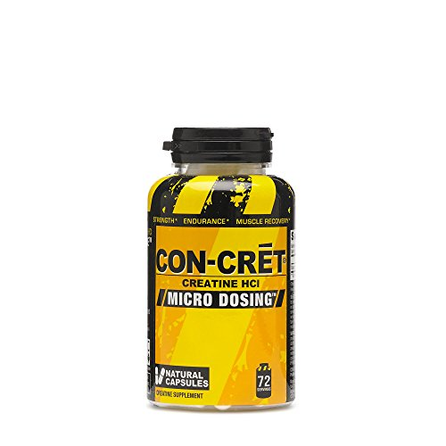 CON-CRET®, 72 Capsules, The Original and Patented Pure Creatine HCl for Boosting Performance, Endurance, and Strength