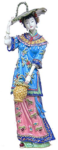 Ancient Great Beauty Woman Chinese Sculpture Delicate Porcelain Lady Figurine