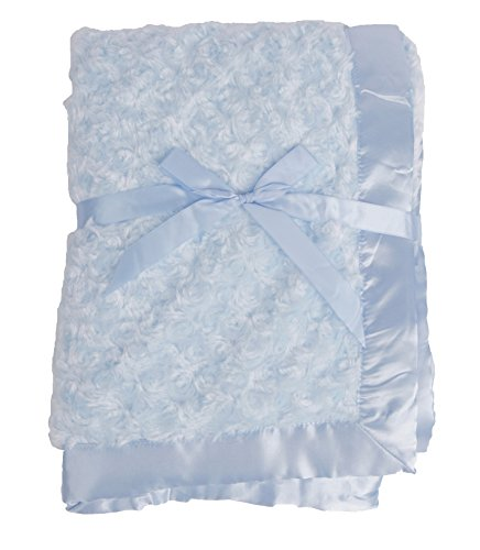 LUXEHOME Baby Comfortable Rose Fleece Blanket (Blue)