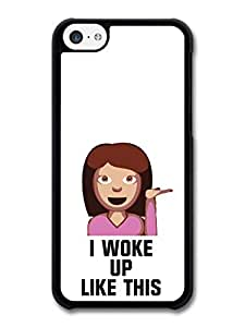 MMZ DIY PHONE CASEI Woke Up Like This Cute Girl Fashion Cool Style Design case for iphone 4/4s