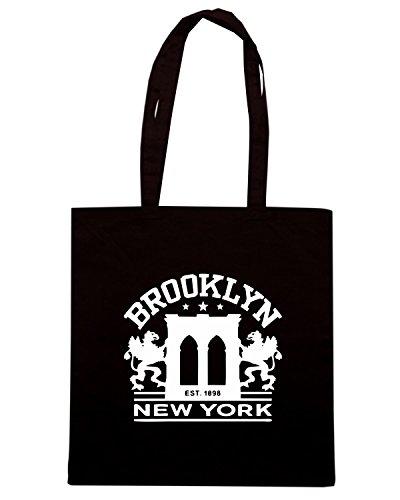 T-Shirtshock - Bolsa para la compra TSTEM0148 brooklyn ny 3 logo Negro