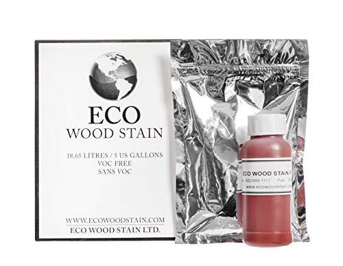 Eco Wood Treatment 5 US Gallon, Long Lasting, Red, Semi-Transparent (1 Pack)
