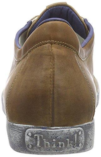 Think Kenidi Schnürhalbschuh - Zapatos Derby Hombre Braun (CAPPUCINO/KOMBI 52)