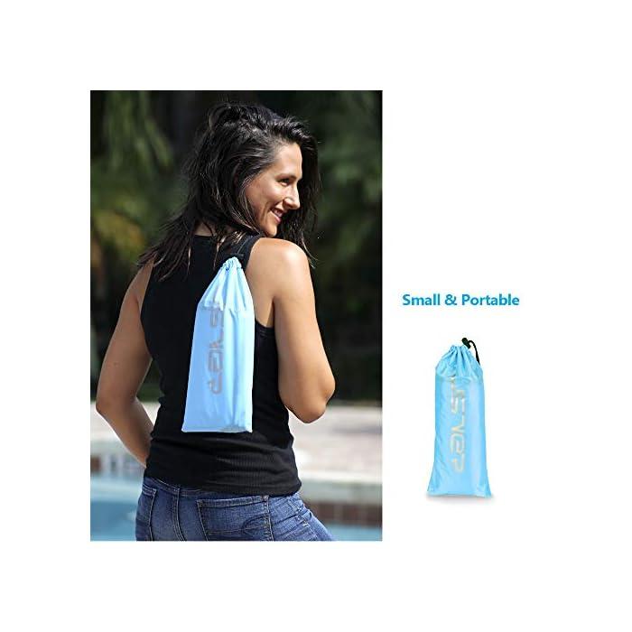 41ds1k3BXHL Adecuado para muchas ocasiones: la Hamaca de agua flotante para nadar es ideal para un día en la piscina, el lago o el océano. Mantén tu cuerpo mojado y apoya la cabeza a flote por encima del agua. Fácil de inflar: infle el tumbona de flotante en condiciones de viento. Si es un día ventoso, simplemente abre la boca de la tumbona de flotador en el viento para inflarla. Use un ventilador para infle si el viento es insignificante o si está en casa. Cómodo y duradero: la cama de malla suave suspende su cuerpo justo debajo de la superficie del agua para mantenerlo fresco. Compuesto por nailon impermeable, este flotador es de punto, fino y suave.