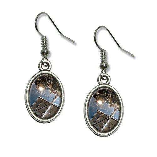 Hubble Telescope - Astronomy Space Novelty Dangling Drop Oval Charm (Hubble Space Telescope Costume)