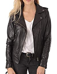 Womens Leather Jacket Bomber Motorcycle Biker Real Lambskin Leather Jacket for Womens Collection-03