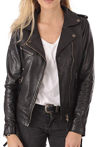 Womens Leather Jacket Bomber Motorcycle Biker Real Lambskin Leather Jacket for Womens - Jacket Leather Womens Jacket