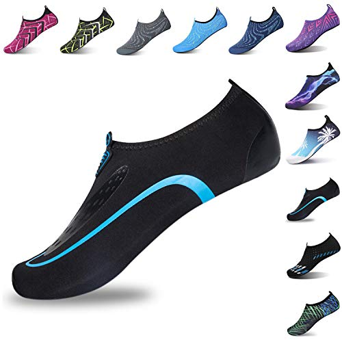 L-RUN Unisex Water Shoes Barefoot Skin Shoes for Run Dive Surf Swim Beach Yoga Shoes Sky Blue...
