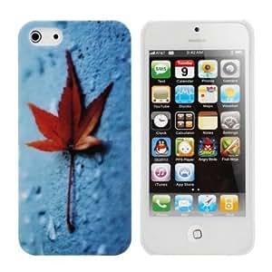 Maple Leaf On Blue Ground Hard Noctilucent Case For iPhone 5 5G