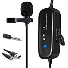 Ideal for accurate voice recording, hight quality rechargeable Lavalier Microphone, Champhox MK01 Hands Free Shirt Clip-on Lapel Omnidirectional Condenser Mic features one metal omnidirectional microphonehead, a active/passive controll...