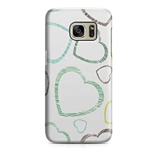 Samsung S7 Case Heart Love Pattern Pattern Great For Girls Durable Metal Inforced Light Weight Samsung S7 Cover Wrap Around 123