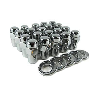 "Cragar Standard Mag Lug Nut 1/2""-20 with Offset Washer Set of 20 Pcs: Automotive"