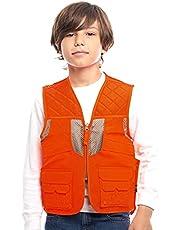 TrailCrest Kids Blaze Orange Deluxe Front Loader Hunting Vest