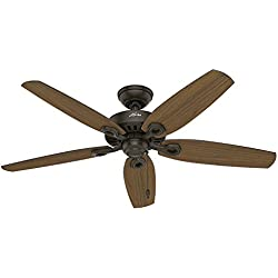 "Hunter Fan Company 53292 52"" Builder Elite Damp New Ceiling Fan, Bronze"