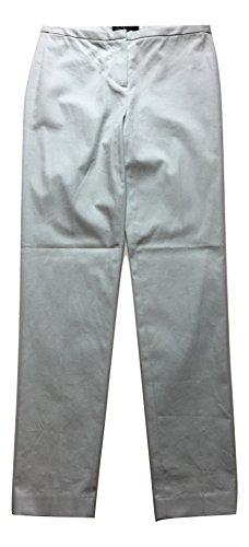 Elie Tahari Women's Jillian Slim Fit Stretch Cotton Pant, Soft Sky (Light Blue), 2
