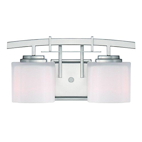 Hampton Bay Architecture 2-light Brushed Nickel Vanity Light