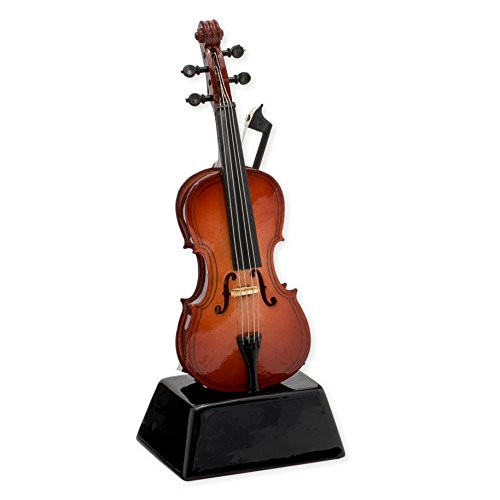 Cello Music Instrument Miniature Replica on Stand, Size 5 in. ()