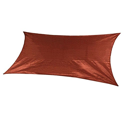 Coolaroo Ready-to-hang Rectangle Shade Sail Canopy, Terracotta - 13ft x 7ft by Coolaroo