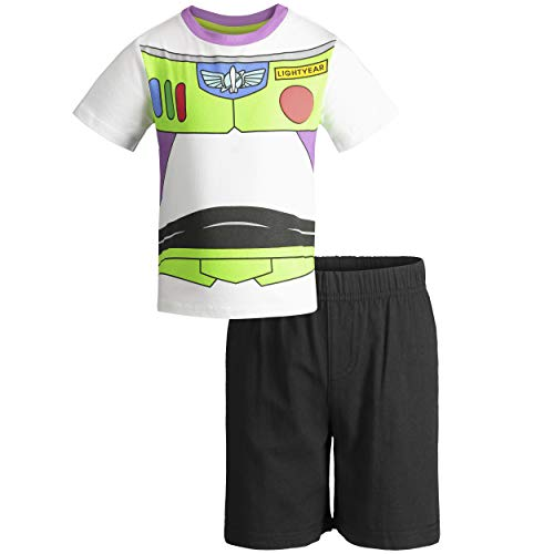 Buzz Lightyear Tee - Disney Pixar Toy Story Buzz Lightyear Toddler Boys T-Shirt & Shorts Clothing Set 4T