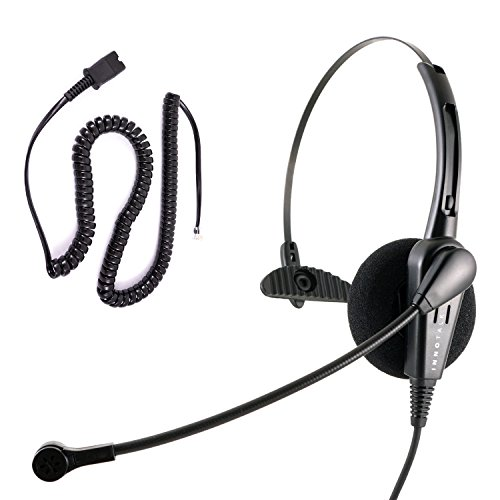 Cisco 6921, 6941, 6945, 6961, 7821, 7841, 7861 Phone Headset - Noice Cancelling Economic Call Center Monaural headset with Cisco Headset Adapter by InnoTalk