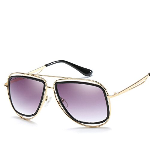 Tendencias Las Retro GUO de B E Sol Gafas de Cara Redonda Gafas Expuestos Sol 0nndfxCZ