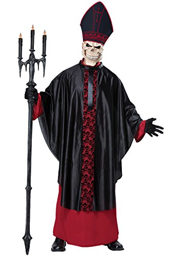 California Costumes Men's Black Mass, Red/Black, (The Pope Halloween Costume)