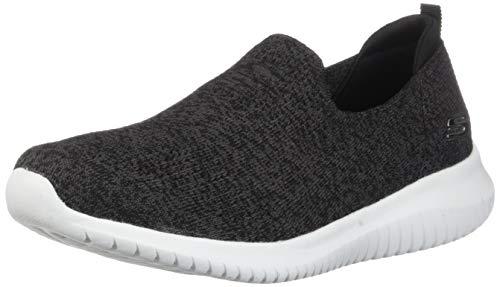 Skechers Women's Ultra Flex-Harmonious Sneaker, Black/White, 8 W US