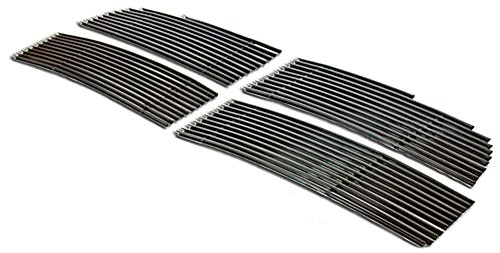 IPCW CWOB-09DGD Ram Pick-Up R1500 Billet Grille (Bolt-On Black Powder Coated Aluminum Insert. No Drilling -