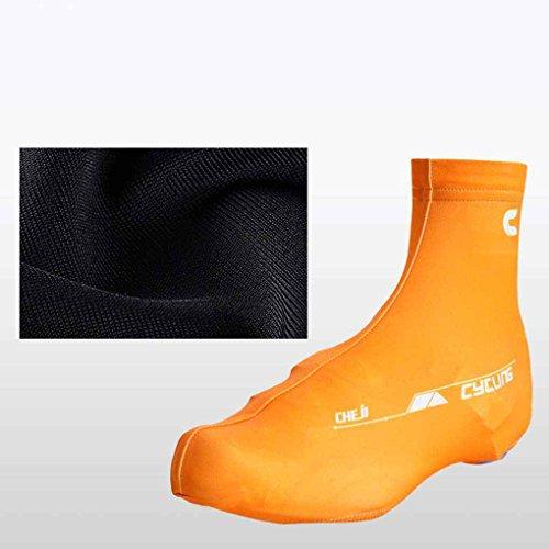 Masterein 1 par de ciclismo de ciclismo cubierta de los zapatos de bicicleta de montaña cubierta protectora de la bota caliente Rojo
