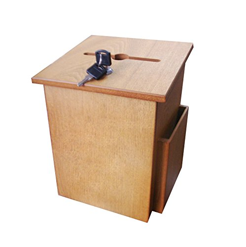FixtureDisplays Wood Suggestion Box Charity Collection Ballot Fundraising Box 12151 12151