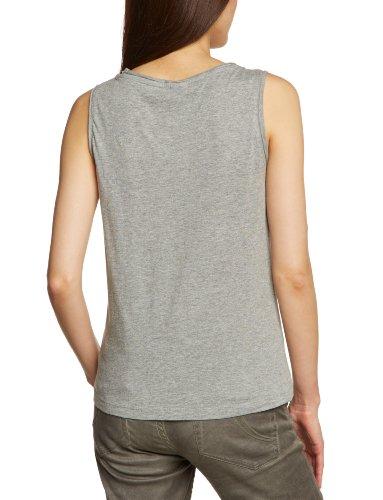 Vero Moda - Chaleco con cuello redondo sin mangas para mujer, talla 36, color gris (lt grey melange/0 003)