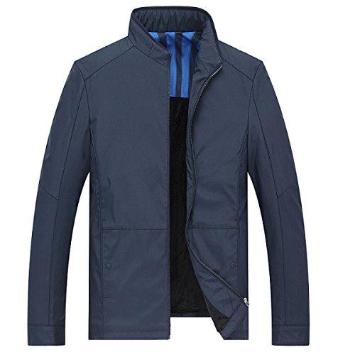 xxxl Maniche Con A Formale Lunghe Donna Blu Zip blue Classica Lungo Cappotto Giacca Da Uomo wRXq6C