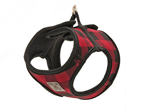 RC Pet Products Cirque Soft Walking Step-in Dog Harness, Medium, Red Buffalo by RC Pet Products