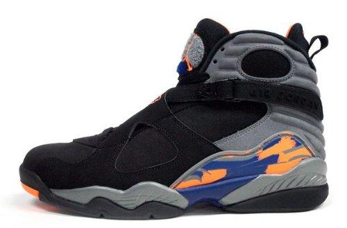 Nike Mens Air Jordan 8 Retro Basketball Shoes Bugs Bunny Black/Bright Cactus/Cool Grey 305381-043 Size 8.5