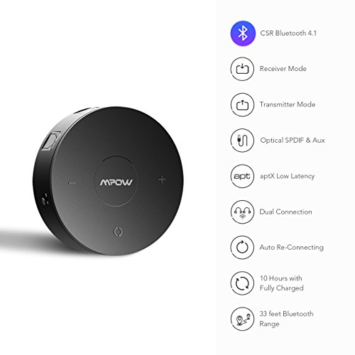 Review Mpow Bluetooth 4.1 Receiver/Transmitter