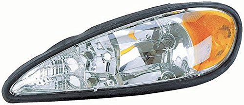 APDTY 112504 Headlight Headlamp Front Left Driver For 1999-2005 Pontiac Grand Am (Replaces 22672207, 16526011, GM2502196)