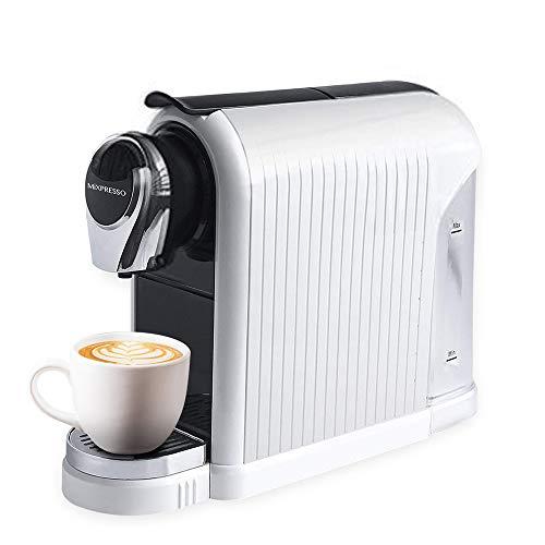 MiXPRESSO Elite Coffee Maker Espresso Machine | For Nespresso Compatible Capsules | 19 Bar High-Performance Italian Pump l Automatic Energy-Saving function | White | For Mixpresso Capsules
