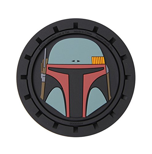 (Plasticolor 000664R01 Star Wars Boba Fett Cup Holder Coaster)