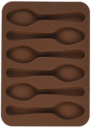 Patisse 6-Cup Chocolate Mould Silicone Spoons, Brown