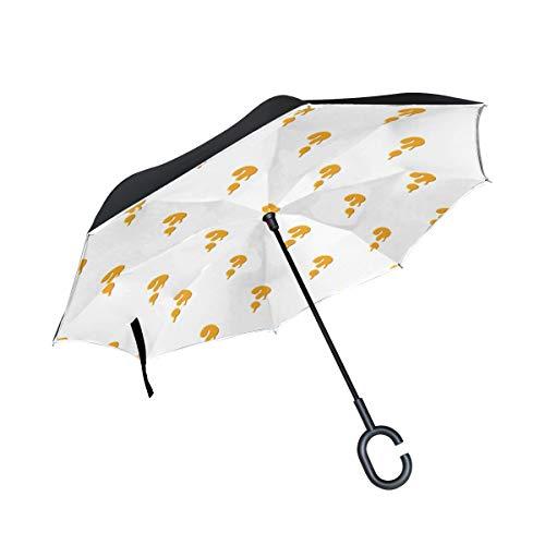 Patio Umbrella Question Mark Creatative Anti Uv Inverted Umbrella Double Layer Sun Shelters Car Beach For Women Adult With C-shaped Handle Rain Umbrellas (Patio Blog)