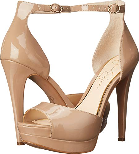 Jessica Simpson Women's Sylvian Dress-Pump, Nude, 9 M US - Jessica Simpson Peep Toe Shoes