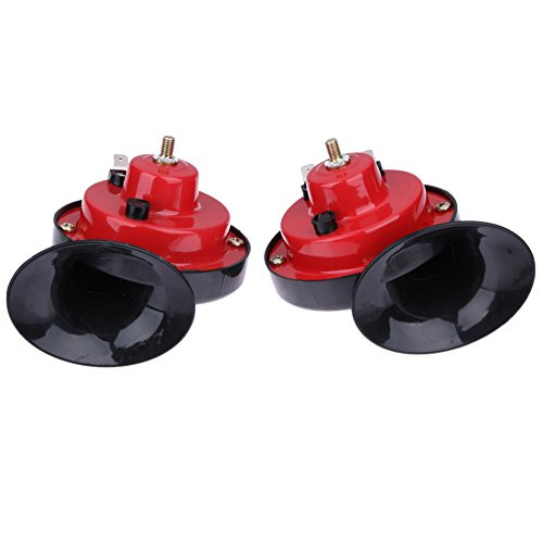 1 Pair All 12V120DB Car Air Claxon Horns Loud Car Dual-tone Snail Electric Siren on Car Air Horn Loud signal Car Styling