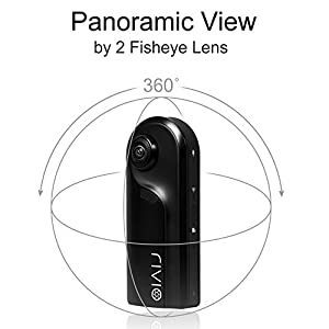 360 Camera with Dual Wide Angle Fisheye Lens, RIVIO R360 VR 3D Panoramic Point and Shoot Digital Video Cameras, Full HD ( 1080P / 30FPS ) Mini Wireless Recorder ( Without Memory Card ) from RIVIO